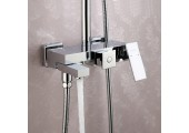 Душевая система хром (смеситель с гусаком, верхний душ, ручная лейка) G2439 Gappo