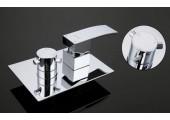 Смеситель для ванны встраиваемый хром с гусаком, верхний душ, ручная лейка G7102 GAPPO