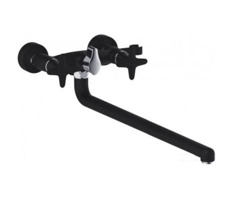 Смеситель для ванны черный (длинный гусак 35 см, европереключатель) G2251 Gappo
