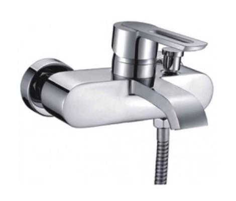 Смеситель для ванны хром (Ø40, короткий гусак с переключателем на душ) G3001 Gappo