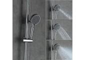 Душевая система хром (смеситель с гусаком, верхний душ, ручная лейка) G2402 Gappo