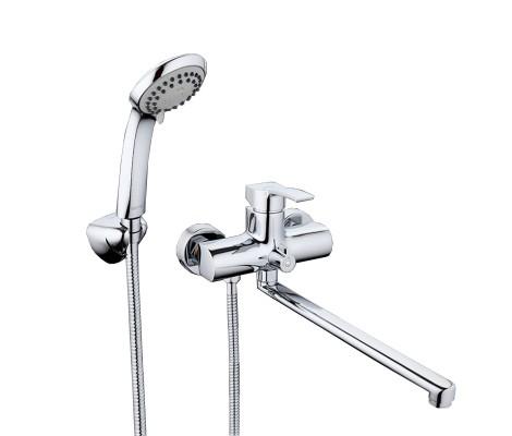 Смеситель для ванны хром (Ø35, длинный гусак 35 см, европереключатель) G2208 Gappo