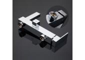 Смеситель для ванны хром Ø25, короткий гусак, европереключатель G3239 GAPPO