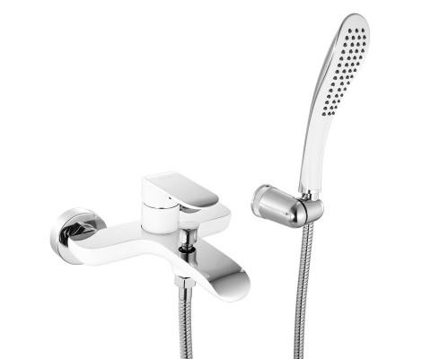 Смеситель для ванны белый Ø35, короткий гусак с переключателем G3048 GAPPO
