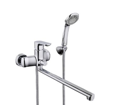 Смеситель для ванны хром (Ø35, длинный гусак 35 см, европереключатель) G2211 Gappo