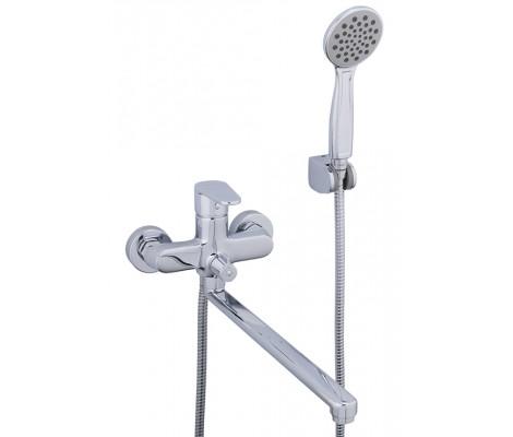 Смеситель для ванны хром  G2215   (ф35, длинный гусак 35 см, евро перекл.)    GAPPO