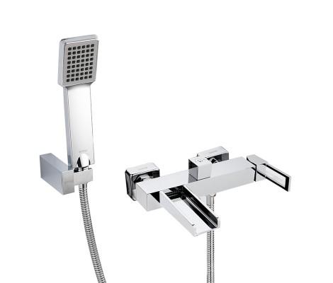 Смеситель для ванны хром (Ø25, короткий гусак, европереключатель) G3240 Gappo