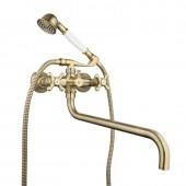 Смеситель для ванны бронза (длинный гусак 35 см, европереключатель) G2263-4 Gappo