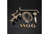 Смеситель для ванны бронза длинный гусак 35 см, европереключатель G2263-4 GAPPO