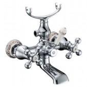 Смеситель для ванны хром (короткий гусак, европереключатель) G3265 Gappo
