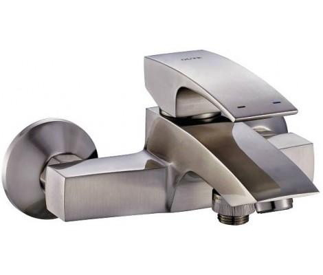 Смеситель для ванны сатин Ø35, короткий гусак, европереключатель G3007-5 GAPPO