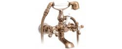 Смеситель для ванны красное золото короткий гусак, европереключатель G3265-3 GAPPO