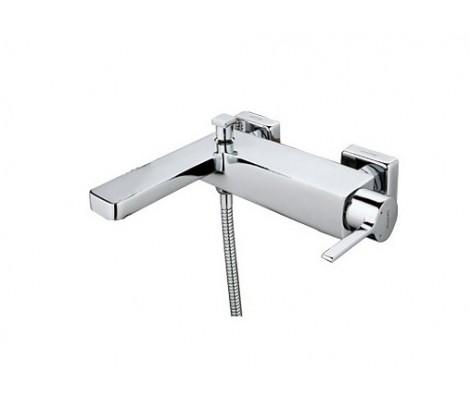 Смеситель для ванны хром Ø35, короткий гусак с переключателем на душ G3004 GAPPO