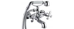 Смеситель для ванны хром Ø35, короткий гусак, европереключатель G3266 GAPPO
