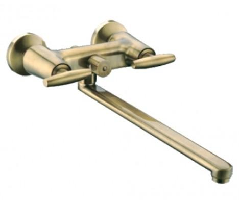 Смеситель для ванны бронза  G2231-4  (длинный гусак 35 см, евро перекл. 90,  п/об)  GAPPO