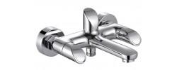 Смеситель для ванны хром короткий гусак, европереключатель G3241 GAPPO