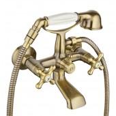 Смеситель для ванны бронза G3263-4  (короткий гусак, евро перекл 120, крест, п/об)   GAPPO