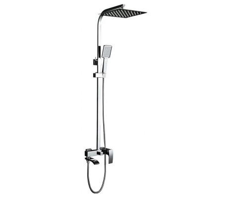 Душевая система хром смеситель с гусаком, верхний душ, ручная лейка G2407 GAPPO
