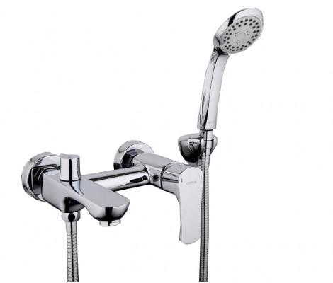 Смеситель для ванны хром Ø35, короткий гусак, европереключатель G3011 GAPPO