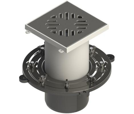 Трап для душевых и ванных комнат  ТП 110 верт двухэлементный   (сухой затвор)