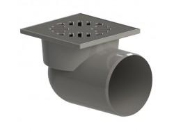 Трап для душевых и ванных комнат  ТП 110 горизонтальный НЕРЖ  150*150