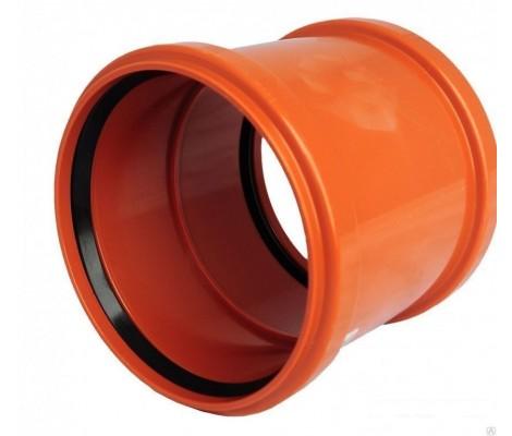 Муфта канализационная 160 (рыжая) FLEXTRON