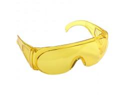 Очки защитные с прозрачными дужками открытого типа (Желтые) (50шт)