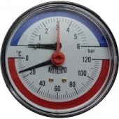 Термоманометр   6 bar заднее подключение TIM
