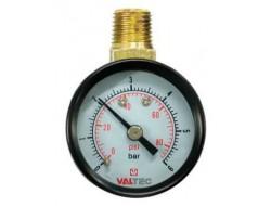 """Манометр Ду 40 верх 1/4"""" 0-6 бар (для редуктора давления)   (Valtec)"""