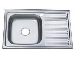 ZERIX мойка стальная Z8050L-06-160E (SATIN)