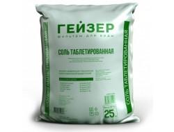 Соль таблетированная мешок 25кг Гейзер